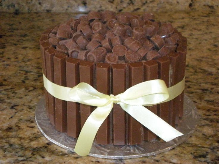 Chocolate Extreme Cake!! This cake can be done with several different types of candy.