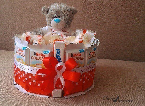 сладкий подарок на день рождения своими руками: 26 тыс изображений найдено в Яндекс.Картинках