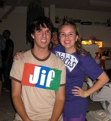 30 Unexpected Halloween Costumes You Can DIY . Picture: peanut butter and jelly!