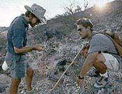 Dr. Rick Potts and fellow, Mike Knoll researching human origins in Kenya