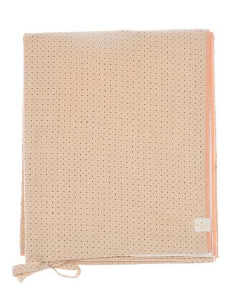 Buy Camomile London, cot bed duvet cover, baby bedding, coral dots print | Roses and the Stars