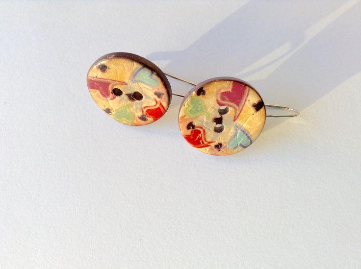 Buttons earrings!!!!!