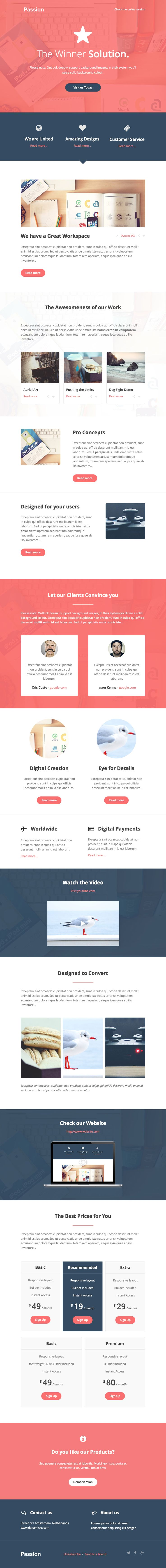Passion + Online Template Builder by DynamicXX on Creative Market
