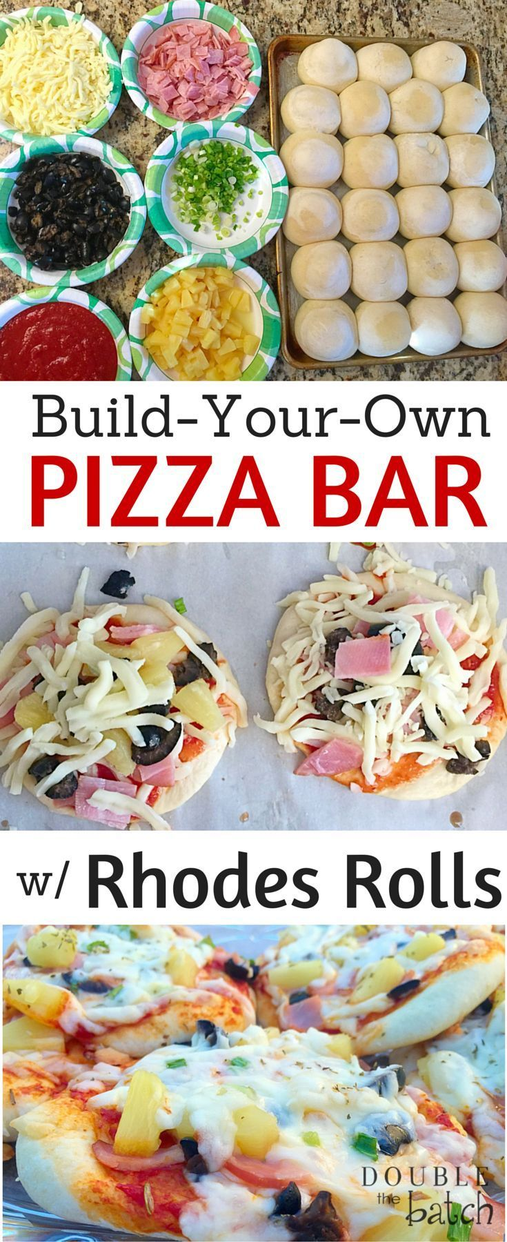 Hands down my kids favorite Friday night meal! These Rhodes Rolls mini pizzas are a hit with kids....and the neighbors! #DoubletheBatch