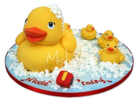 Rubber Ducky Edible Cake Decorations
