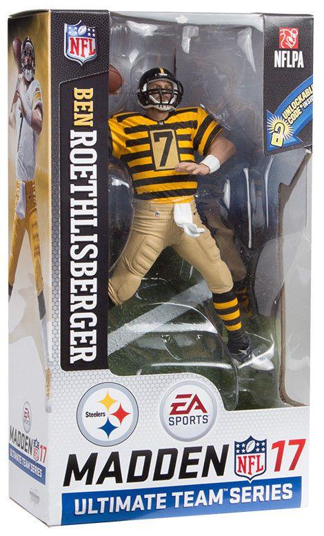 Mcfarlane Ben Roethlisberger Pittsburgh Steelers Bumble Bee  EA Madden NFL #McfarlaneBenRoethlisbergerPittsburghSteelers