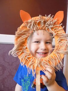 Save Green Being Green: Paper Plate Lion Crafts - 3 Versions