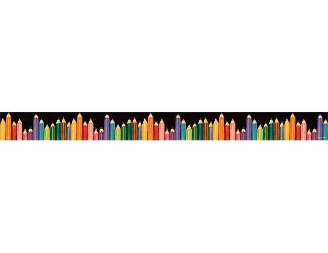 Colored Pencils Straight Border Trim from Susan Winget