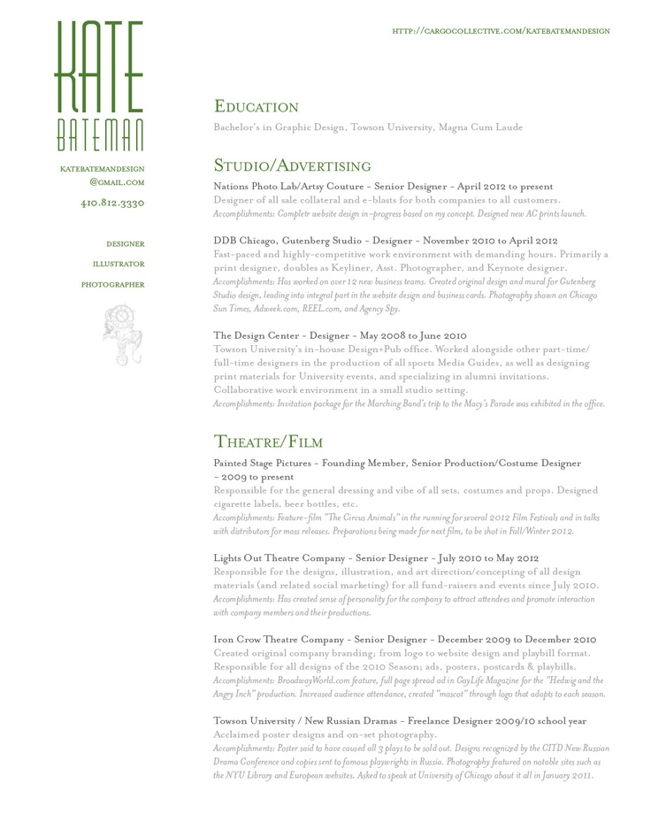 Web design resume and get ideas to create your resume with the best way