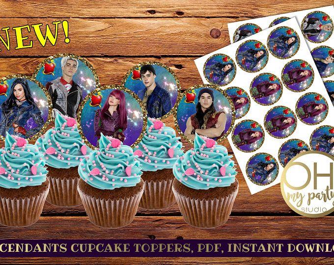 disney's descendants cupcakes - 680×540