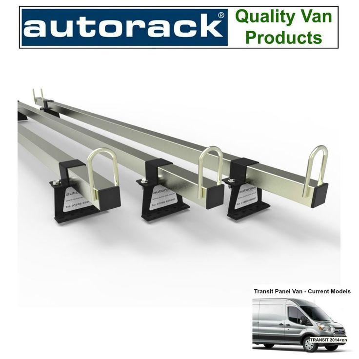 Van Roof Rack 3 bars Latest FORD TRANSIT Panel Van 2014-to-New Autorack MegaBars #AUTORACK