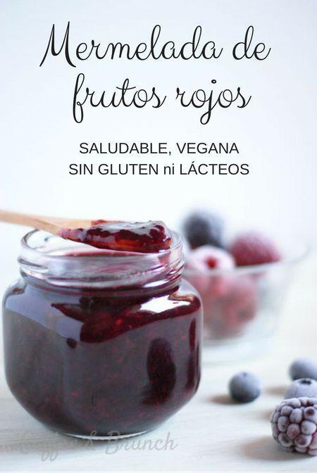 Mermelada saludable de frutos rojos, vegana y sin gluten. Muy fácil de preparar y con sólo 2 ingredientes. Gracias a esta receta ¡dejarás de comprar la mermelada del supermercado!