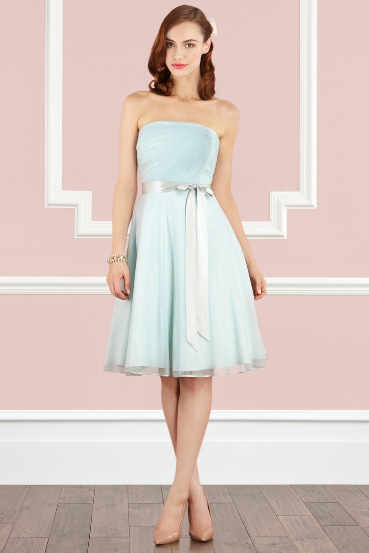 #Mint Verienne Tulle Dress - see more of the Mint Wedding Trend at this Pinterest board