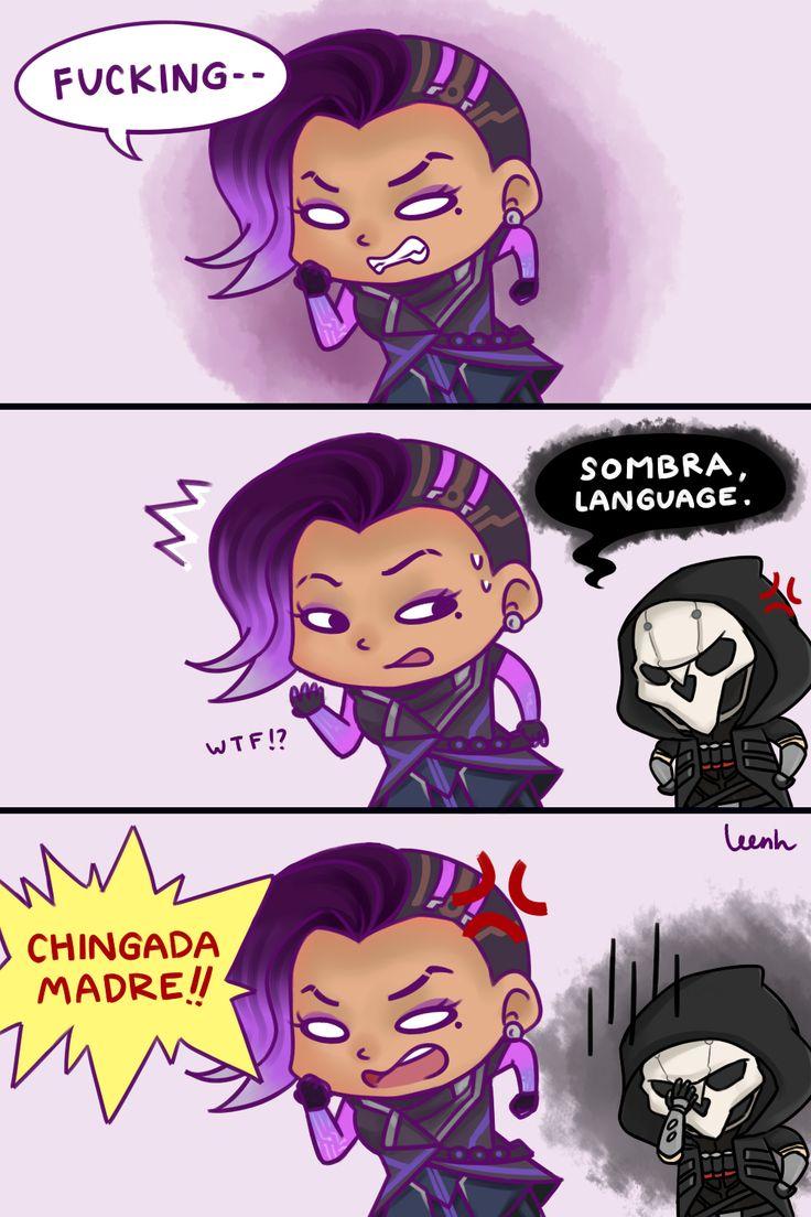 Reaper (Overwatch),Overwatch,Blizzard,Blizzard Entertainment,фэндомы,Sombra (Overwatch),Overwatch Comics