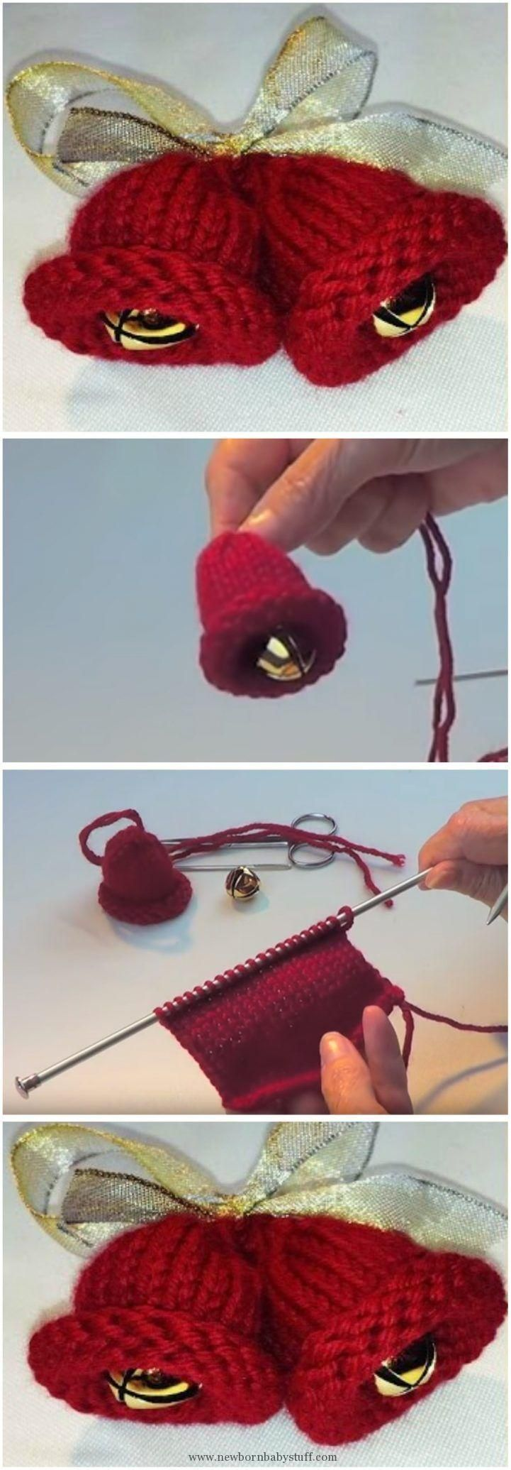 Baby Knitting Patterns How To Knit Christmas Jingle Bells...