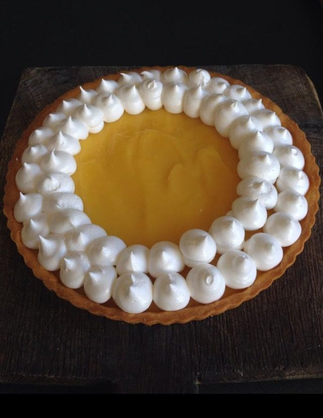 Half dressing lemon meringue pie.