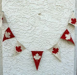 Get Your Craft On: maple leaf canada day bunting/ banner