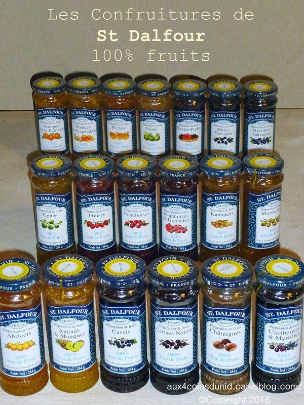 Les confitures 100% fruits de St Dalfour