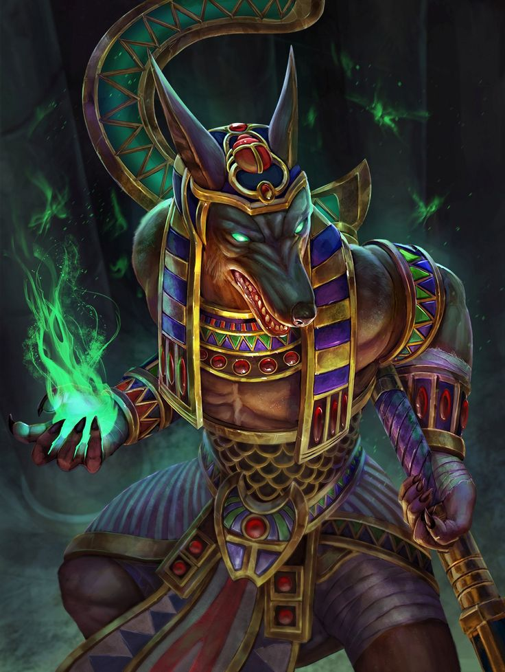 Anubis Golden Skin Concept Art (Smite) by Andy Timm / PTimm