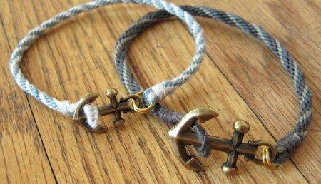 Anchor and Braid Bracelet