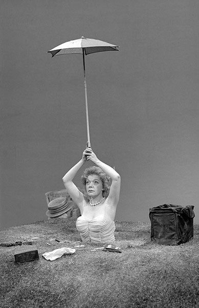 Winnie (Brenda Bruce) in Happy Days by Samuel Beckett, Royal Court, 1962
