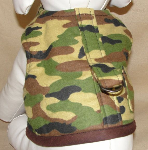 Dog Clothes Camo Pet Harness Camouflage Dog by ChicCanineCouture