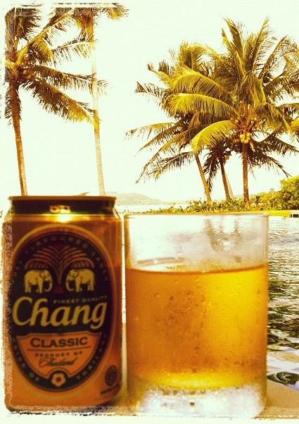 Sip on #Thailand's very own brew - Chang beer!