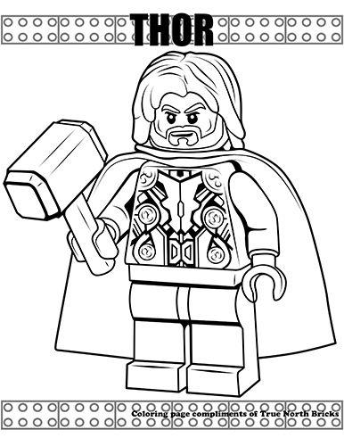 Coloring Page - Thor - True North Bricks   Lego coloring ...