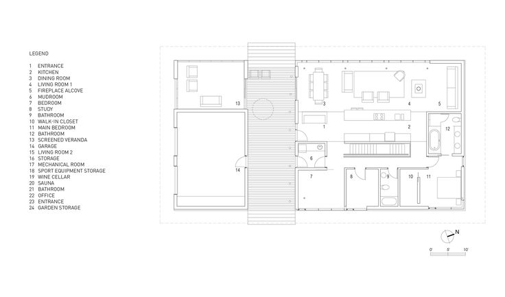 Image 10 of 10 from gallery of Country House in Lanaudière / STOA ARCHITECTURE. Ground Floor Plan