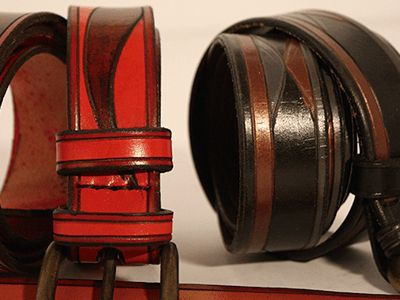 Cinturon pintado 3cm #Cuero #Leather #cinturon