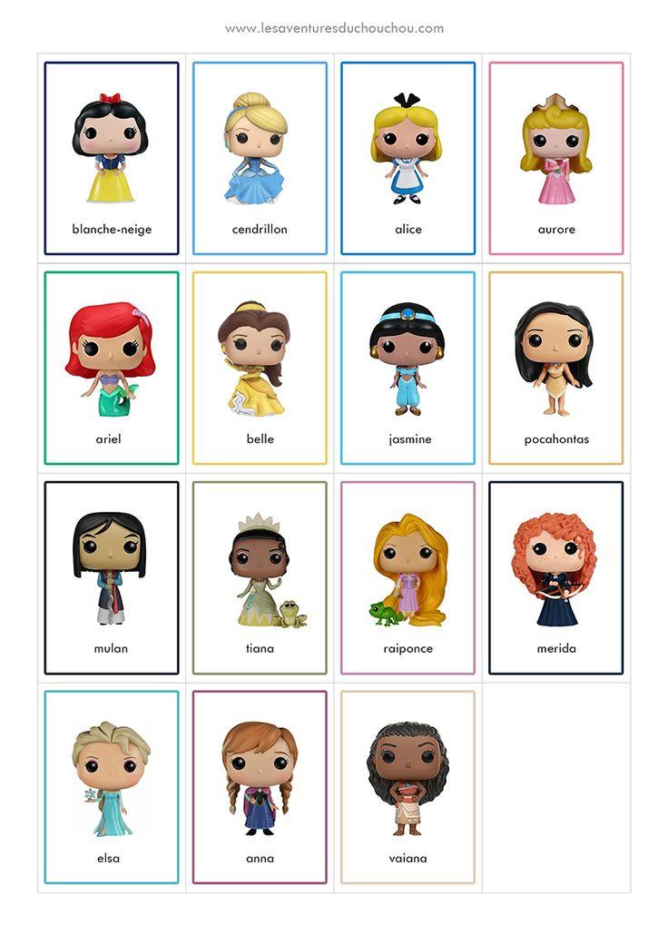Jeu de Memory à imprimer / Memory Game Printable (Disney Princess & Superheroes) | Jeu de memory ...