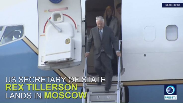 WATCH: US Secretary of State Rex Tillerson lands in Moscow for meetings with Sergei Lavrov