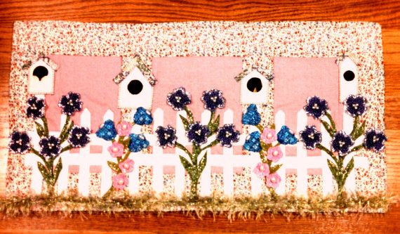 Quilted, Embellished Spring Wall Hanging. Handmade.