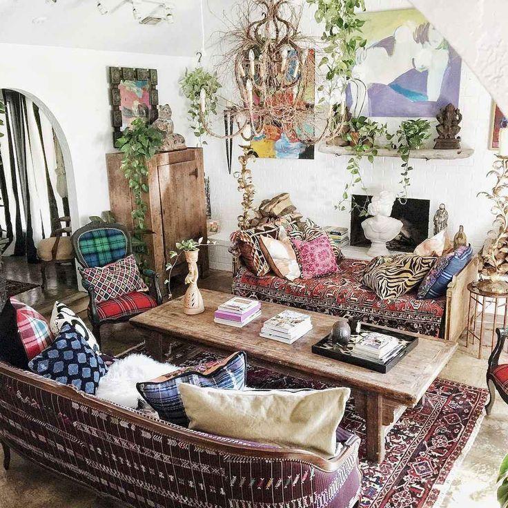 Cozy Bohemian Style Living Room Decorating Ideas 1 Bohemian Cozy Decorating Ideas Liv Coole Raumgestaltung Boheme Einrichtung Boho Wohnzimmer