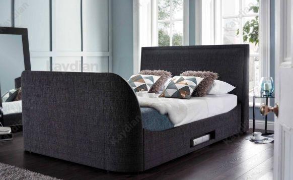 "Embleton Designer Fabric TV Bed Frame Holds upto 42"" TV   eBay"