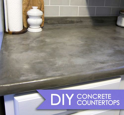 so cool... would have done this if I had laminate countertops instead of tile and didn't need a new sink!!!  Love concrete countertops!