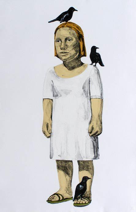 Claudette Schreuders  Title: Public Figure  Six colour, chine colle lithograph