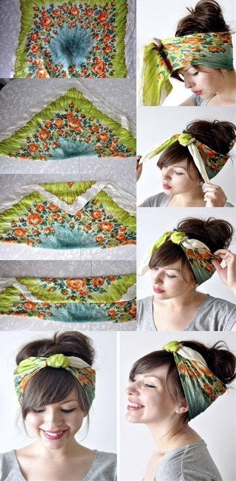 Tutorial for Bandana Hairstyles