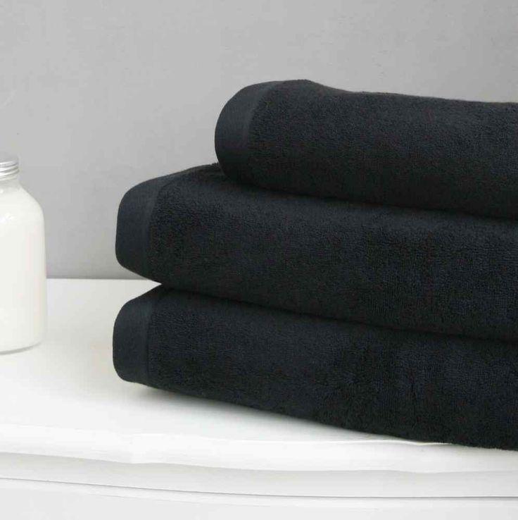 """Eponge LIOU """"UNIE LUXE"""" Noir - eponge, serviette invité, serviette de toilette, drap de douche, drap de bain www.lacompagniefrancaise.com"""