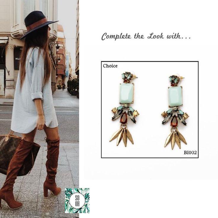Ref: BI002 Choice Medidas: 7.8 cm x 2.5 cm So Oh: 11.99 🌱 #sooh_store #onlinestore #style #inspiration #styleinspiration #brincos #earrings #fashion #shoponline #aw2016 #aw1617 #winterstyle