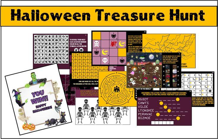 Halloween Treasure Hunt - Printable Party Game