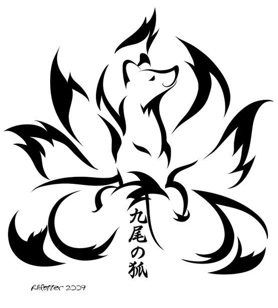 nine tailed fox tattoo art | 9b295e4b1da794e26b2403c73ce291d9.jpg