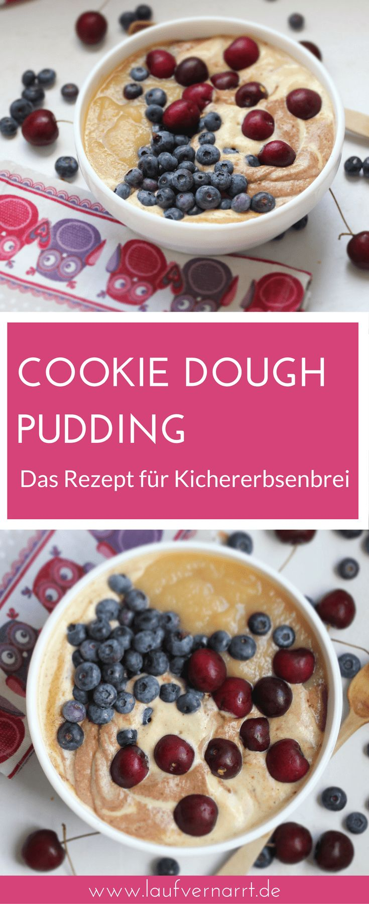 Cookie Dough Pudding – süßer Kichererbsenbrei – Gabikopytziok
