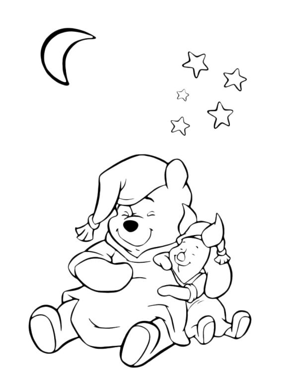 Disney Piglet Coloring Pages Winnie The Pooh Friendship With