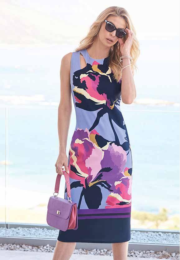 Placement Cut-Out Dress #kaleidoscope #trend
