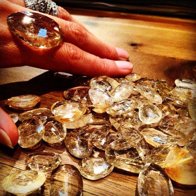 Honey to the bees.....#rutilatedquartz #design #robindiraunsworth #robindira_unsworth #spring2015 #sparkle #twinkle #quartz