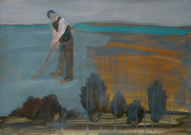 "Saatchi Online Artist Janusz Gałuszka; Painting, ""Filling the sky over the golf course"" #art"
