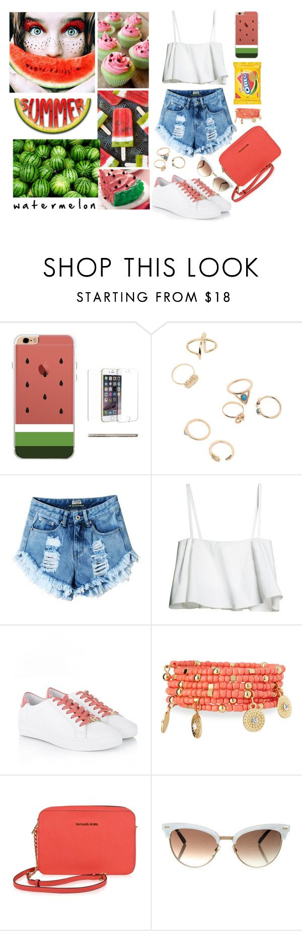 """Watermelon"" by elviretta on Polyvore featuring moda, Michael Kors, Emily & Ashley, MICHAEL Michael Kors e Gucci"
