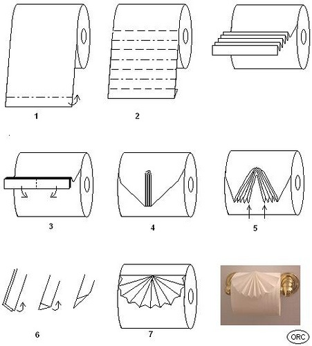 Toilet Paper Origami by shoplet, via Flickr