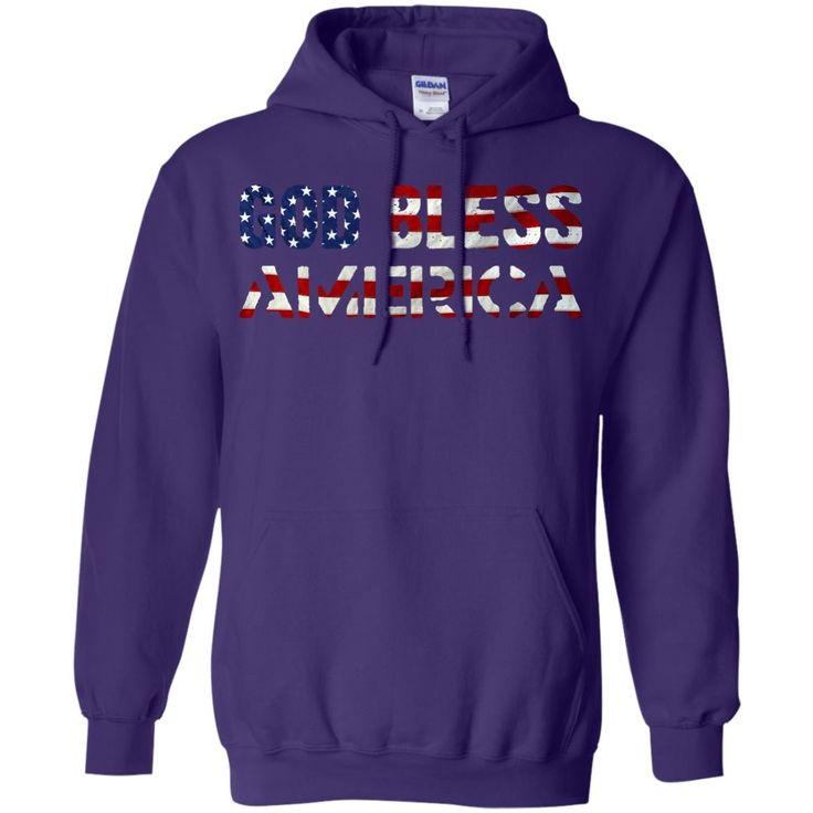 God Bless America 4th of July G185 Gildan Pullover Hoodie 8 oz.